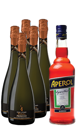 Bosca Prosecco and Aperol pack