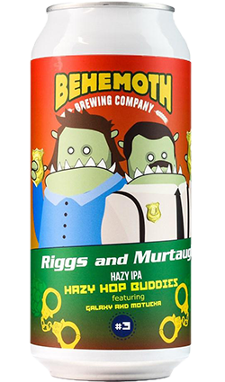 Behemoth Hop Buddies #3 Riggs & Murtaugh Hazy IPA 440ml