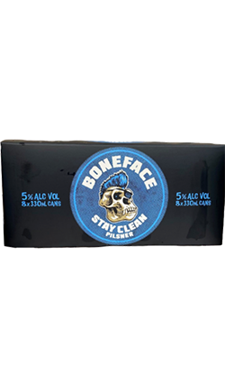 Boneface Stay Clean Pilsner 330ml Cans 8PK 5%