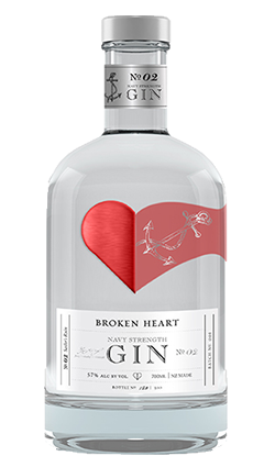 Broken Heart Gin Navy Strength 57% 700ml