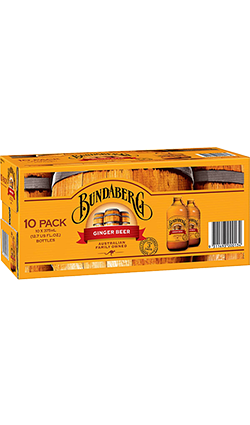 Bundaberg Ginger Beer 375ml 10Pk