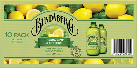Bundaberg Lemon Lime & Bitters 375ml 10pk