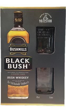 Bushmills Black Bush + 2 Glasses 700ml