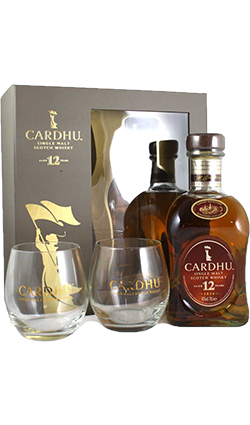 Cardhu 12YO 700ml with Glasses