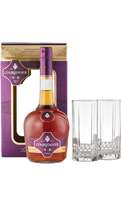 Courvoisier VS and Two Glasses 700ml