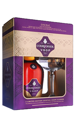 Courvoisier VSOP and Glasses 700ml
