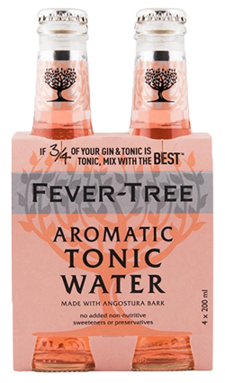 Fever Tree Aromatic Tonic Water 200ml 4pk