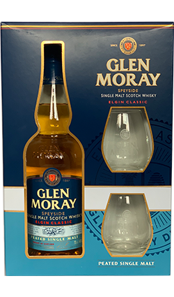 Glen Moray Peated with Glasses 700ml
