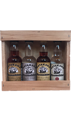 Matakana Moonshine Miniature Wooden Gift Set 4 x 50ml