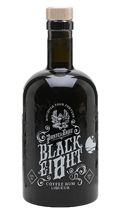 Pirate Grog's Black Eight Coffee Rum Liqueur 500ml