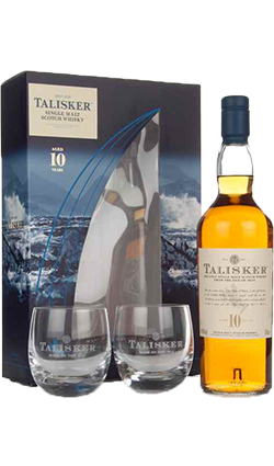 Talisker 10YO + 2 Glasses 700ml