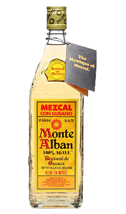Monte Alban Mezcal Tequila with worm 700ml