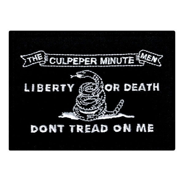 Black Culpeper Flag Embroidered Patch Patchaddict