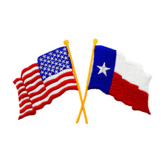 USA and Texas Crossed Flag
