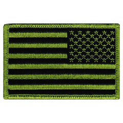 American Flag (Green, Reversed)