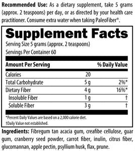 Fiber FX Unflavored and Unsweetened 300g (10.6oz)