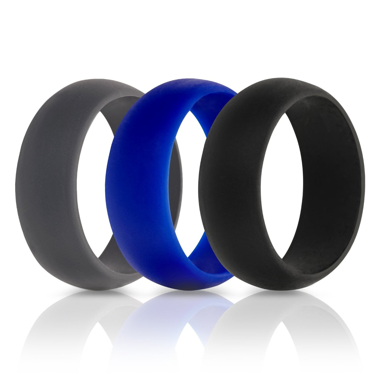 thunderfit silicone wedding ring grey blue black