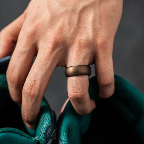Men's Round Silicone Ring - Copper
