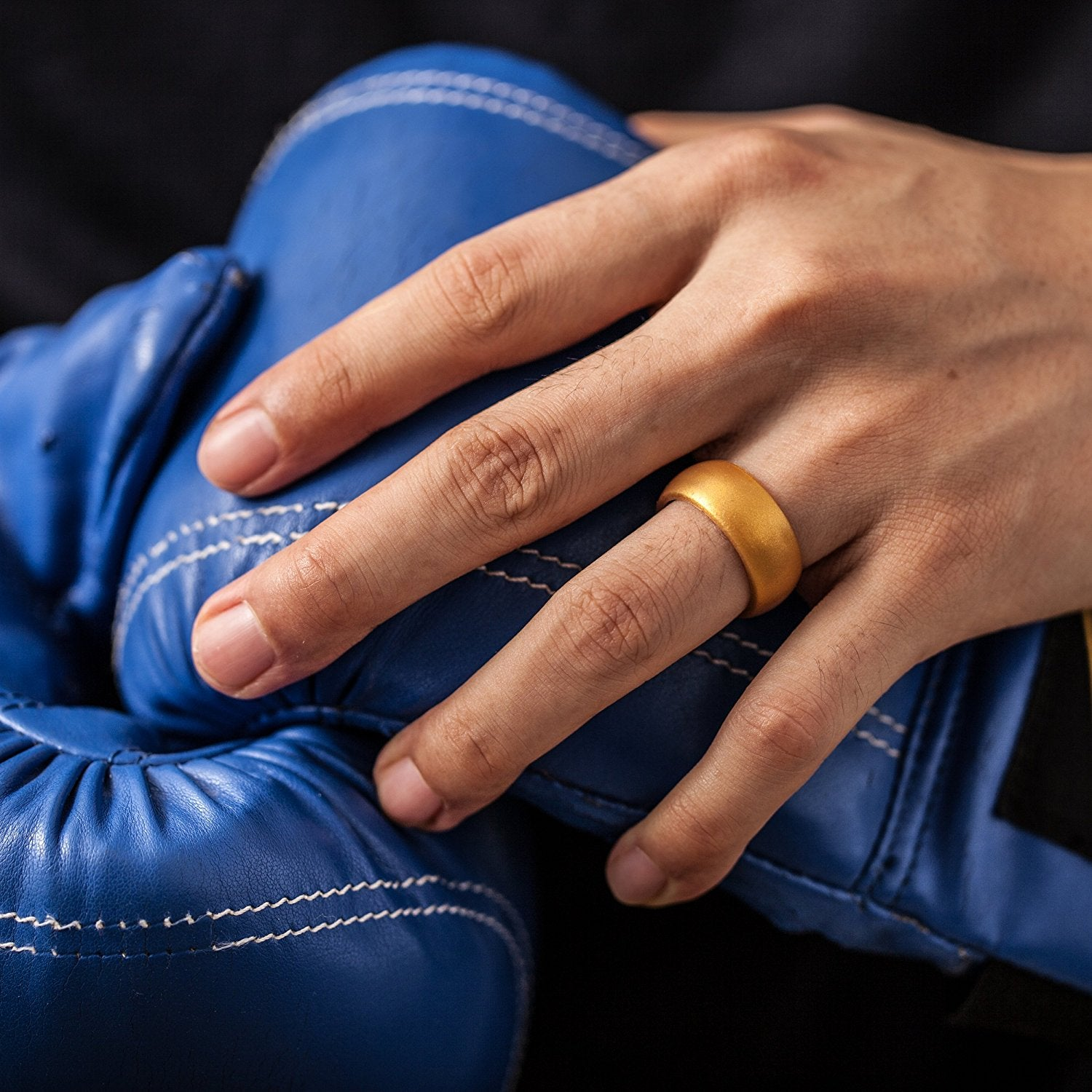 Men's Round Silicone Ring - Gold