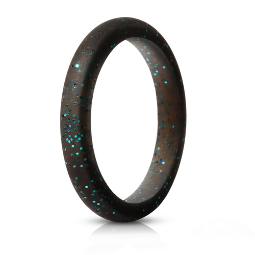 Stackable Singles - Black with Glitter