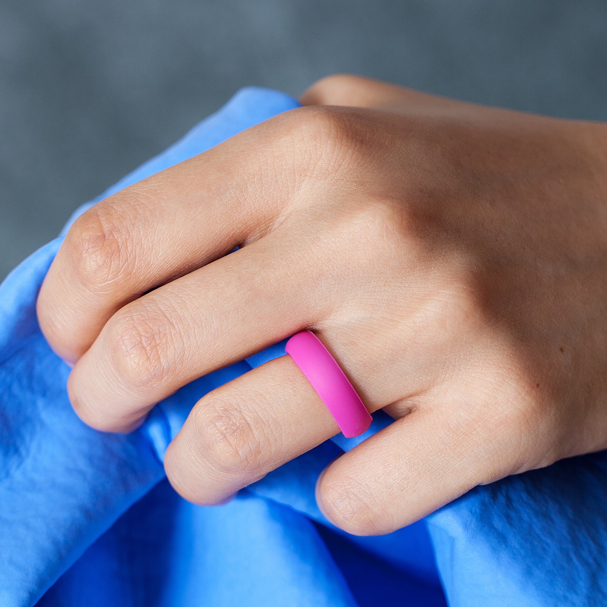 Women's Rings 4 Pack - Rose Pink, Blue, White, Teal