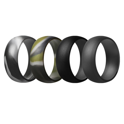 Men's Rings 4 Pack Round - 8th