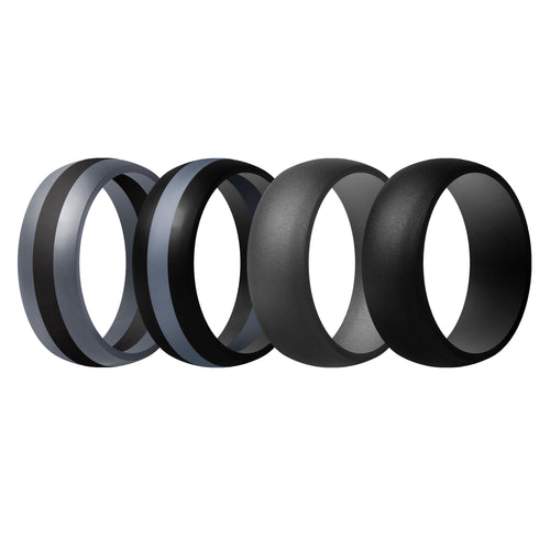 Men's Rings 4 Pack Middle Line - 2nd