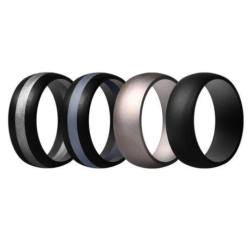 Men's Rings 4 Pack Middle Line - 3rd