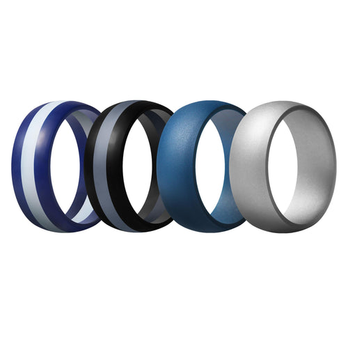 Men's Rings 4 Pack Middle Line - 5th