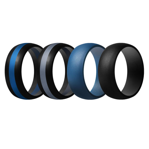 Men's Rings 4 Pack Middle Line - 6th