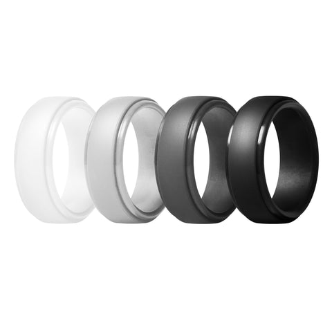 Men's Classic Rings 4 Pack - Seventh