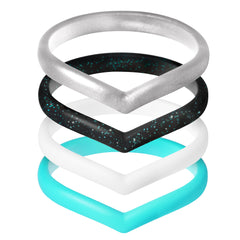 Women's Heart Rings 4 Pack - First