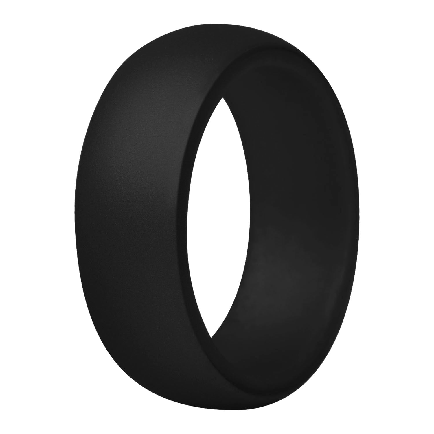 Men's Round Silicone Ring - Black