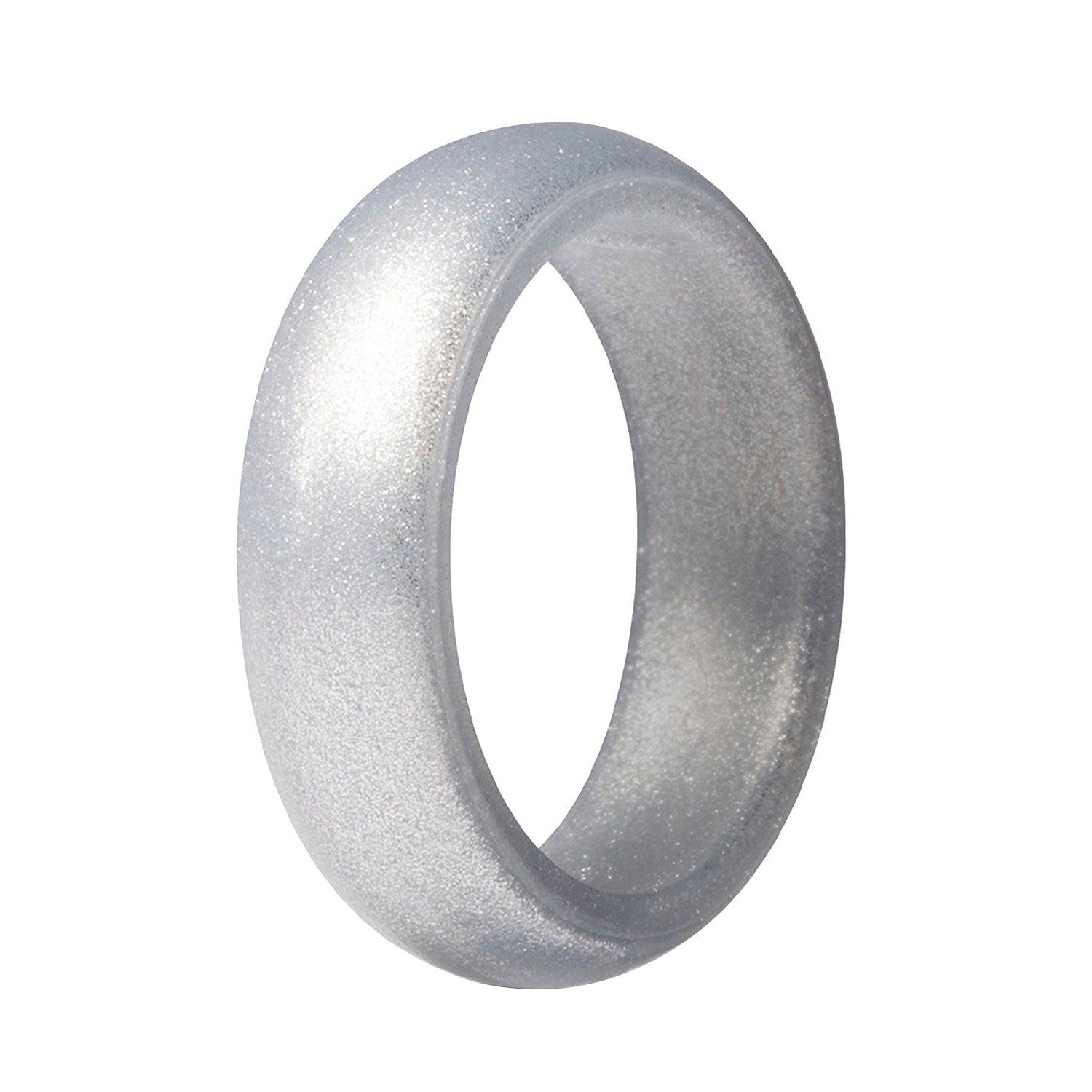 Women's Classic Silicone Ring - Silver
