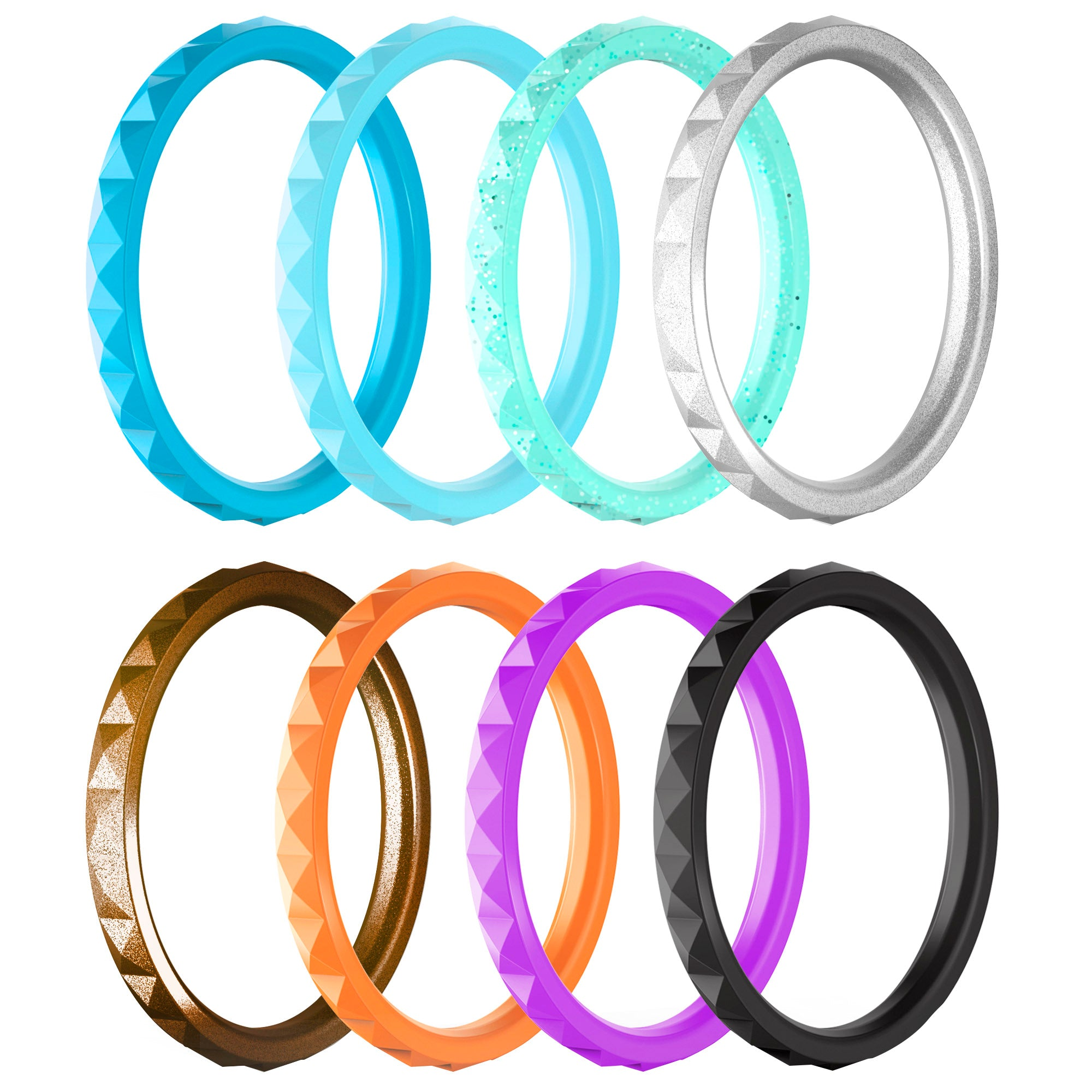 Pyramid Stackables 8 Rings Pack - Viva