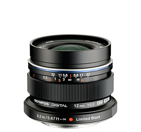 Olympus M.Zuiko Digital ED 12mm f/2.0 Lens (Black) by Olympus at B&C Camera