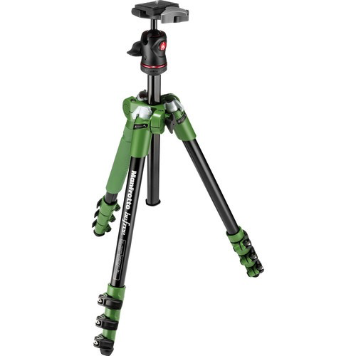 Manfrotto BeFree Compact Travel Aluminum Alloy Tripod (Green) - B&C Camera - 1