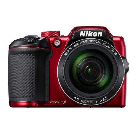 Nikon COOLPIX B500 Digital Camera (Red) by Nikon at B&C Camera