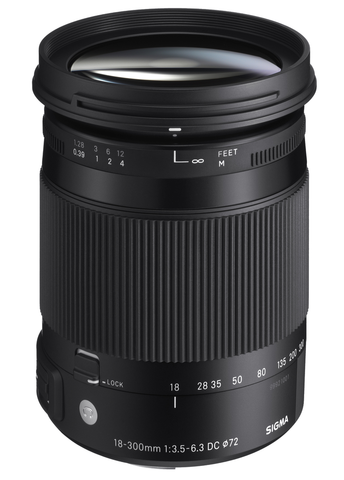 Sigma 18-300mm f/3.5-6.3 DC Macro OS HSM Contemporary Lens for Canon EF
