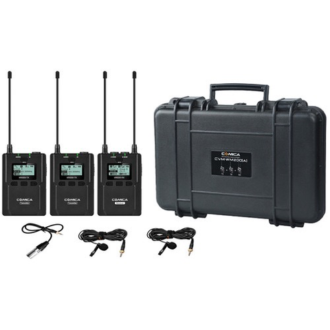 Wireless System with Lavalier Mics (520.0 to 548.5 MHz, 550.0 to 578.5 MHz) by ikan at B&C Camera