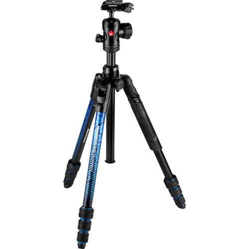 Manfrotto Befree Advanced Travel Aluminum Tripod with Ball Head (Twist Locks, Blue) by Manfrotto at bandccamera