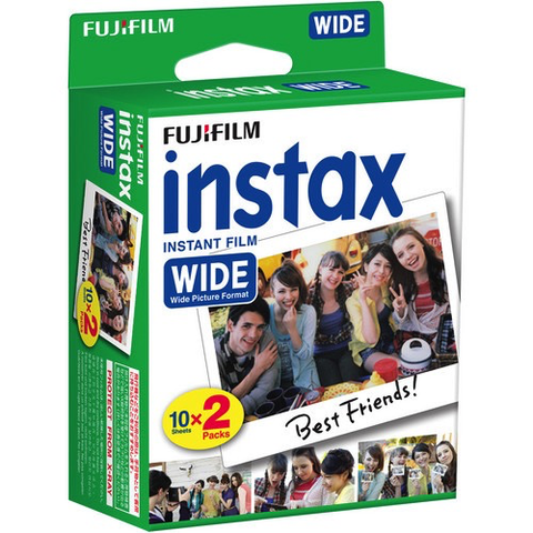 Fujifilm Instax Wide Instant Color Film (2 Packs, 20 Shots)