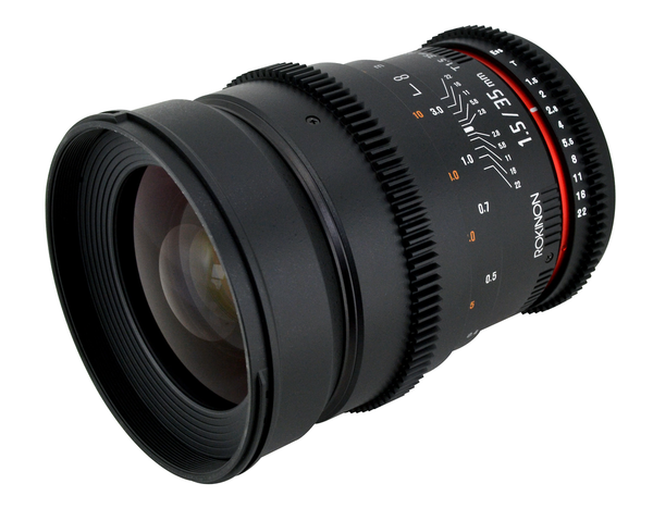 Rokinon 35mm T1.5 Cine Lens - Canon EF Mount by Rokinon at B&C Camera