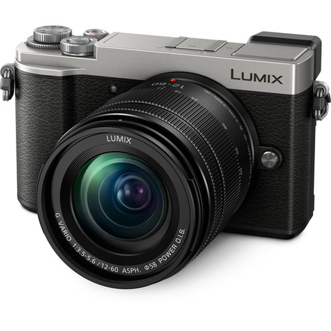 Panasonic Lumix DC-GX9 Mirrorless Micro Four Thirds Digital Camera with 12-60mm Lens (Silver) by Panasonic at B&C Camera