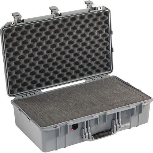 Pelican 1555Air Carry-On Case with Pick-N-Pluck Foam (Silver) by Pelican at bandccamera