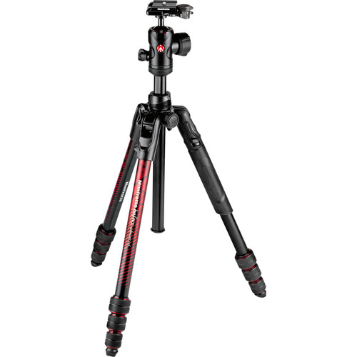 Manfrotto Befree Advanced Travel Aluminum Tripod with Ball Head (Twist Locks, Red) by Manfrotto at B&C Camera