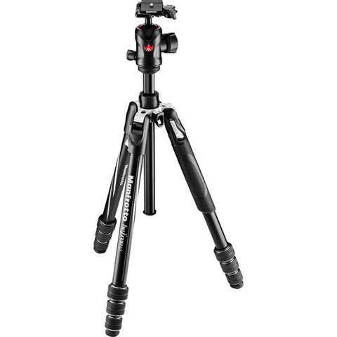 Manfrotto Befree GT Travel Aluminum Tripod with 496 Ball Head (Black) by Manfrotto at B&C Camera