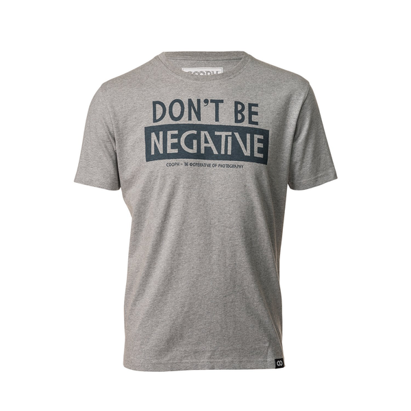 COOPH T-Shirt DONT BE NEGATIVE HEATHER GRAY XL