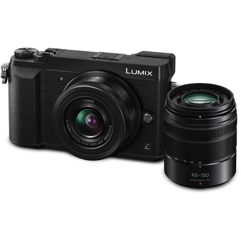 Panasonic Lumix DMC-GX85 Mirrorless Micro Four Thirds Digital Camera with 12-32mm and 45-150mm Lenses (Black) by Panasonic at B&C Camera