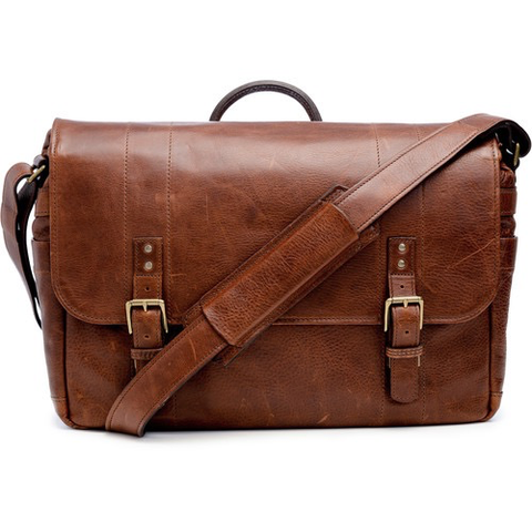 ONA The Union Street Messenger Bag (Walnut, Leather) by ONA BAGS at bandccamera